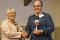 Chris Rawlings accepts the Applegate Trophy on behalf of West Wilts BKA from Mayor Judy Rose