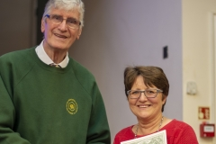 WBKA President Alan Stonell presents the Basic Certificate in Beekeeping to Amanda Leworthy (West Wilts BKA) at the Wiltshire Bee & Honey Day 2019