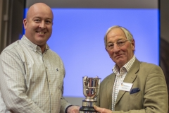 (L-R) WBKA Chair Stephen Auty presents Richard Oliver (Kennet BKA) with the Teal Cup in thanks for his services to the WBKA
